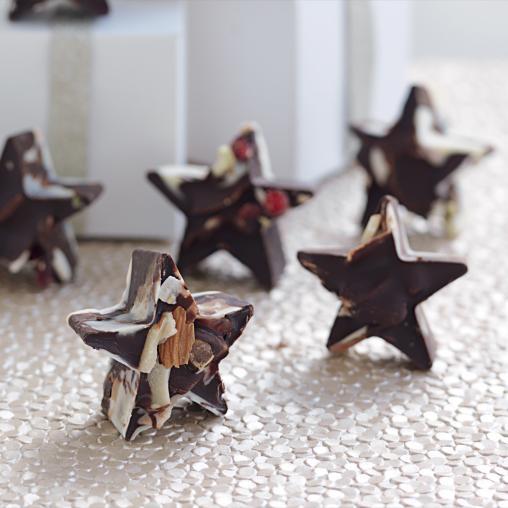 Fruit and Nut Chocolate Stars