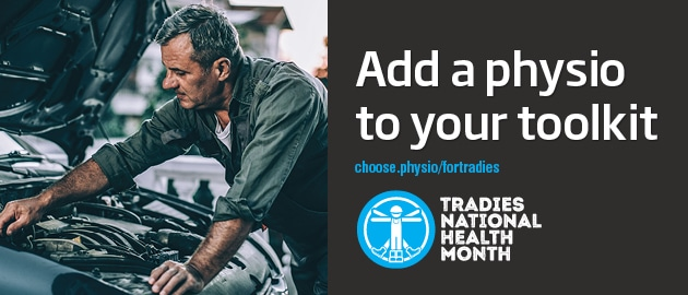 Tradies National Health Month 2020 poster